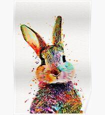 Kaninchen-Aquarell-Kunst-Arbeit Poster