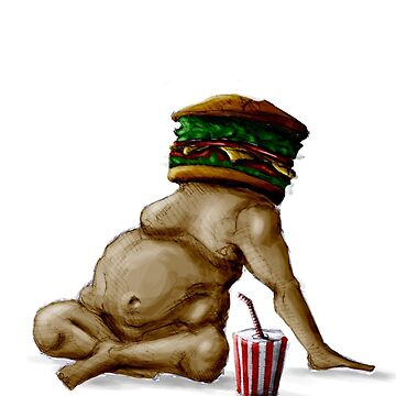 hamburger man tee by hamifidan