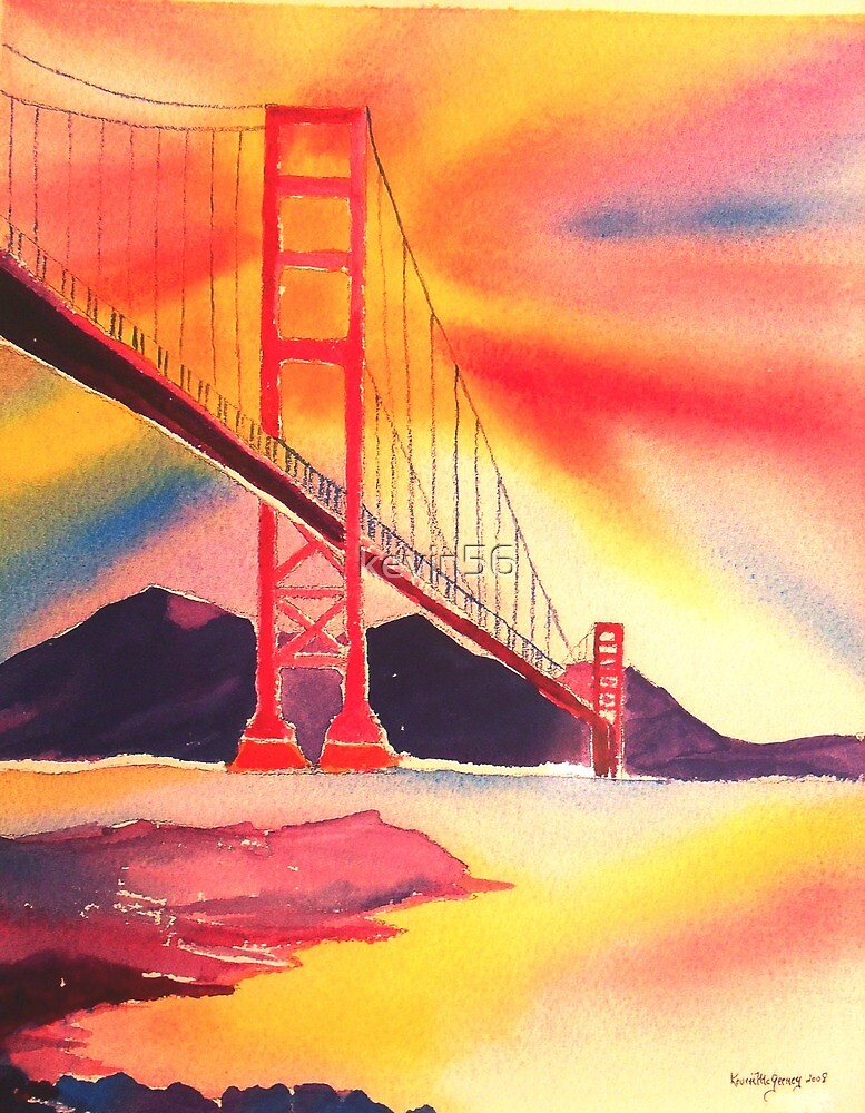 the Golden Gate in 08 by Kevin Mcgeeney