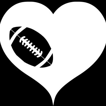 American football with heart by RetroFuchs