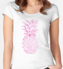 Pink Pineapple Women's Fitted Scoop T-Shirt