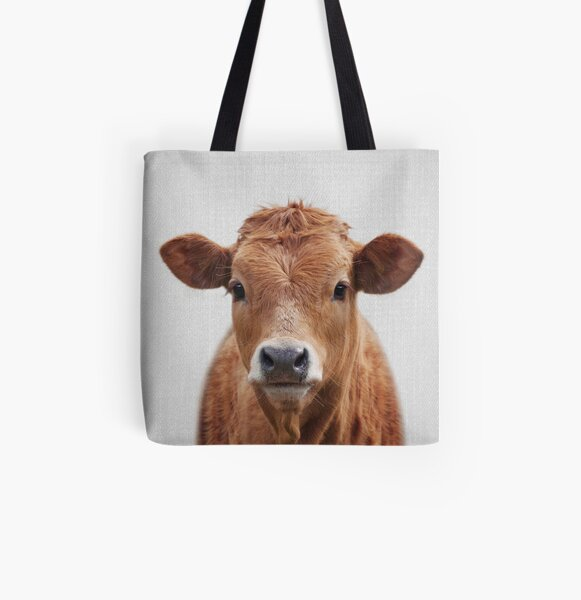 Cow - Colorful All Over Print Tote Bag
