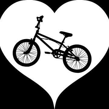 BMX Bike Heart Bike by RetroFuchs