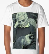 Derrida and Cat - stylized Long T-Shirt