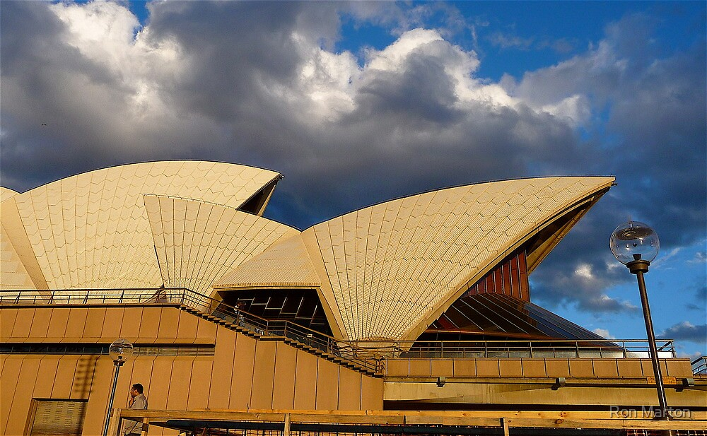 Utzon's Bronze & Blue by Ron Marton