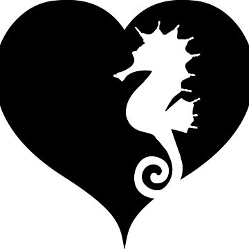 Seahorse with heart by RetroFuchs