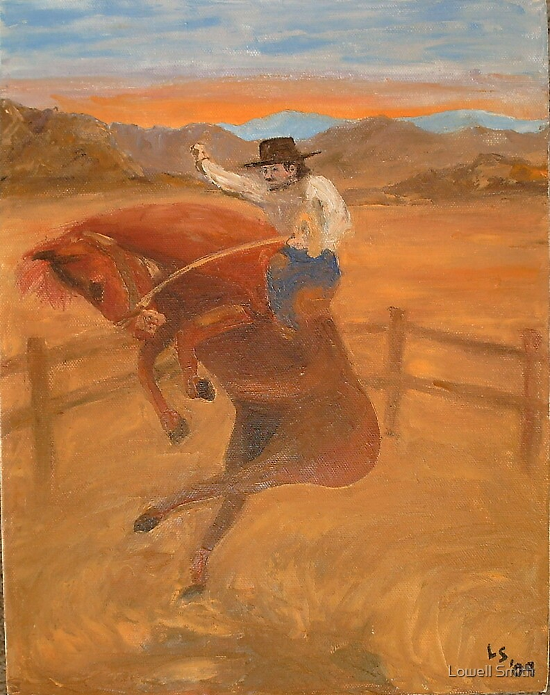 Bronco Rider #6 by Lowell Smith