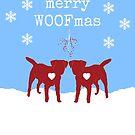 Border Terrier Christmas Card - Merry Woofmas by ScruffyLT
