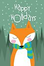 Fox Holiday Card by Jordi  Sabate
