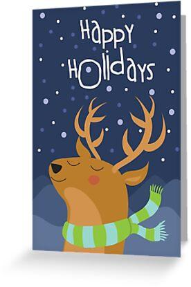 Deer Holiday Car by Jordi  Sabate