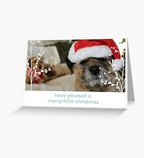 Border Terrier Christmas Card - Have Yourself A Merry Little Christmas Greeting Card