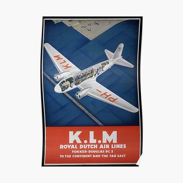 Vintage Airline Travel Poster 1935 Poster
