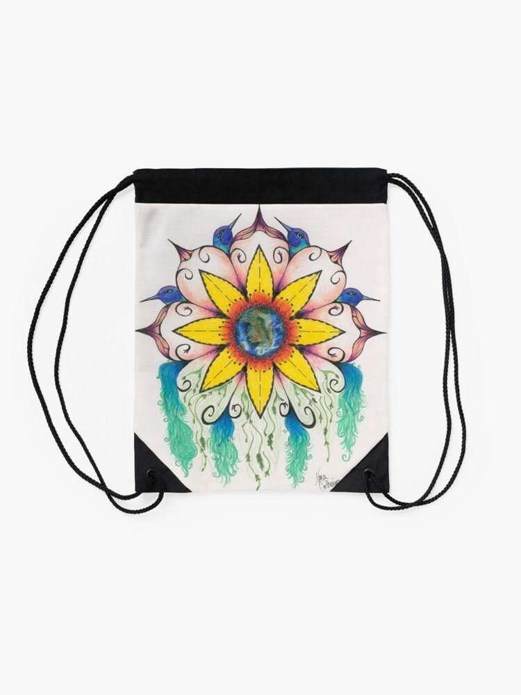 Alternate view of Symphony of Summer Drawstring Bag