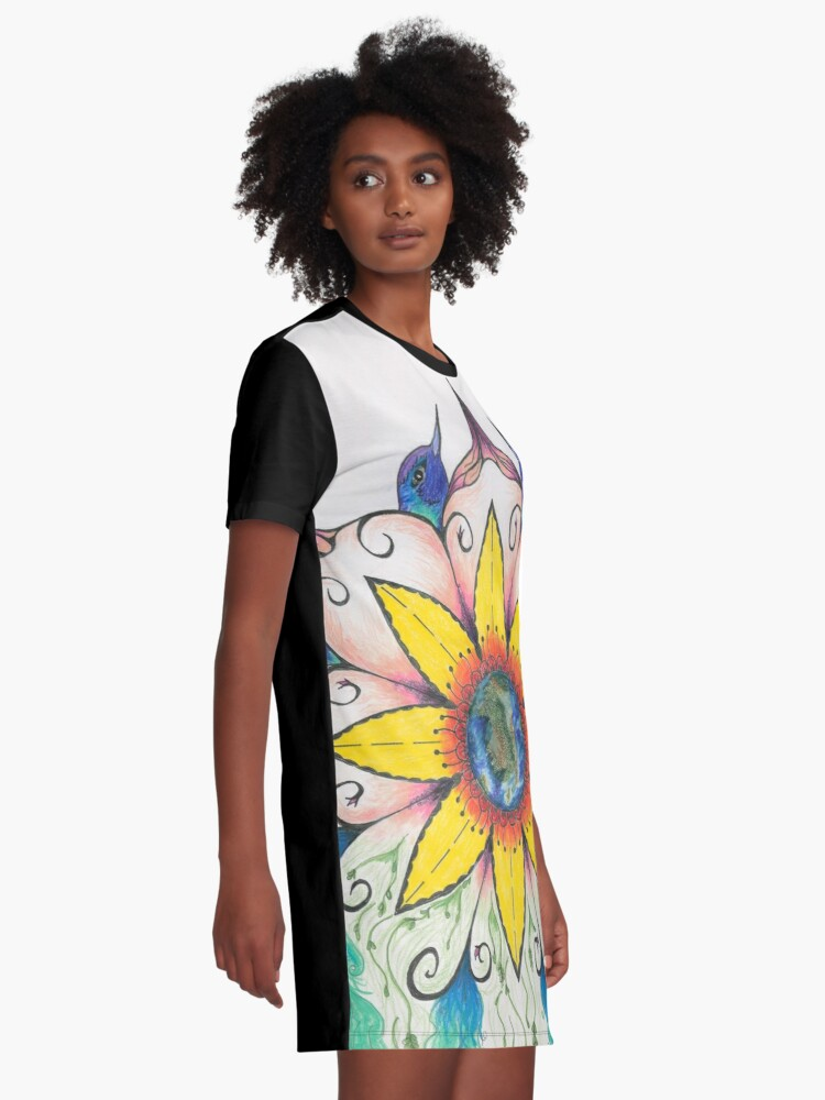 Alternate view of Symphony of Summer Graphic T-Shirt Dress