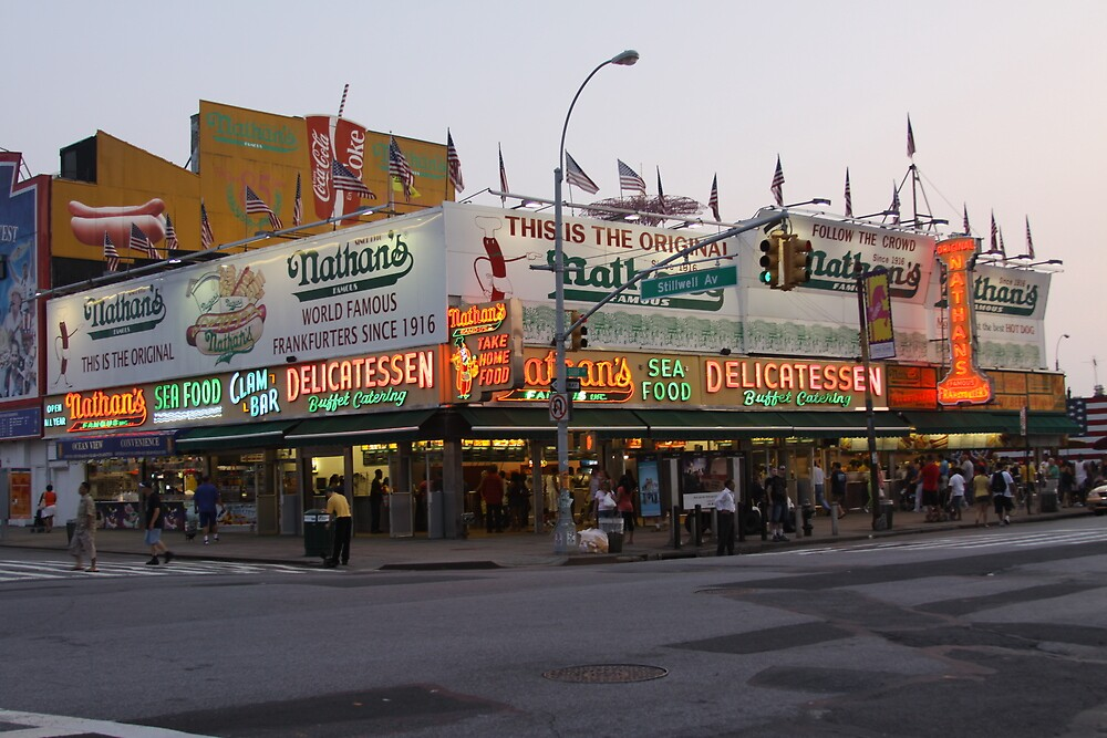 Nathan's In Brooklyn  by MrLoupos