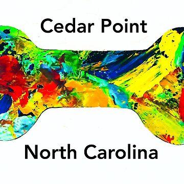 Cedar Point NC dog sticker  by barryknauff