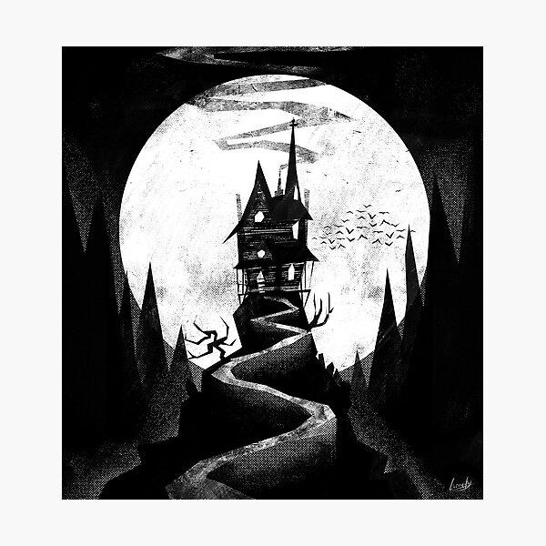Spooky haunted house - Halloween Photographic Print