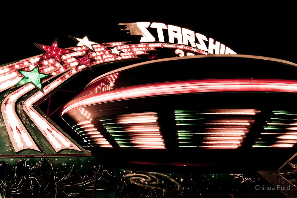Starship - Street Carnival Lights in BC by Chinua Ford