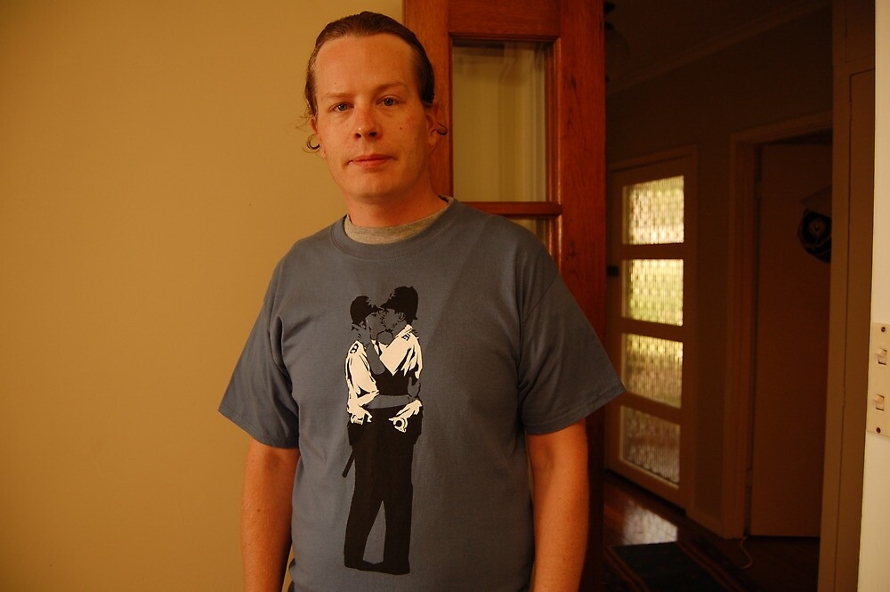 my new banksy tshirt by Andrew Hennig