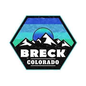 Breck Colorado Skiing Mountains Ski Snowboarding Breckenridge by MyHandmadeSigns