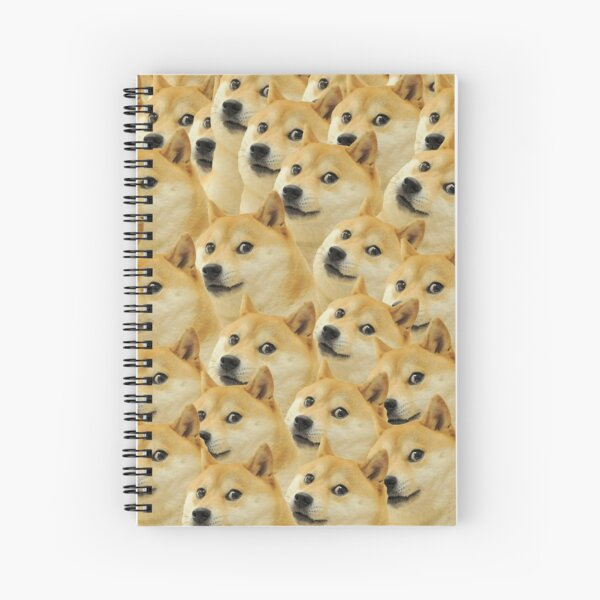 Doge WOW Pattern Kekistani Doggo #DogRight Spiral Notebook