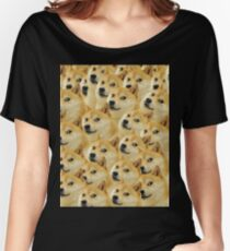 Doge WOW Pattern Kekistani Doggo #DogRight Women's Relaxed Fit T-Shirt