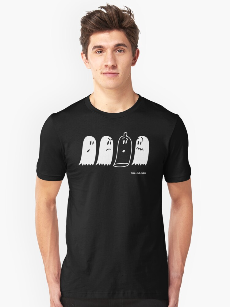 Hide and seek: Latex Ghost has been found! Unisex T-Shirt Front