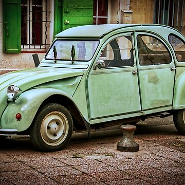 Citroen 2CV - The Iconic Turquoise Vintage Beauty by gphotobox