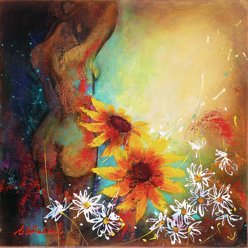 Nude with Daisies by Carla Whelan