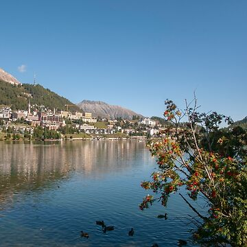 St. Moritz, Switzerland with Lake St. Moritz in the foreground by PhotoStock-Isra