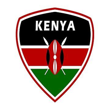 Kenya Coat of Arms / Gift Kenya Kenja Africa Flag by Rocky2018