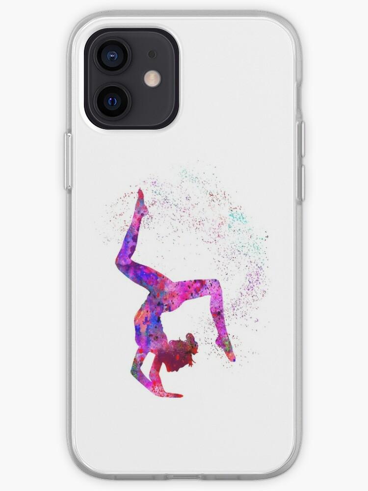 Fille de gymnastique, gymnastique aquarelle, cadeau adolescent | Coque iPhone
