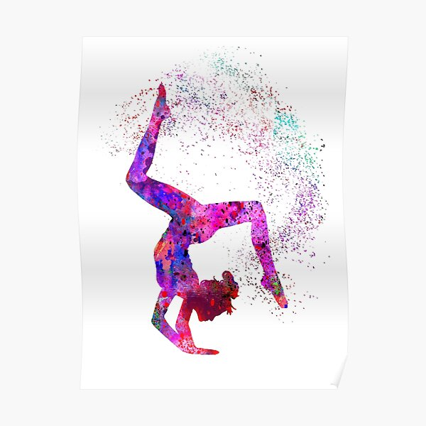 Gymnastics Horizontal Bar Poster Print Gymnast Gift High Bar Gymnastics Team