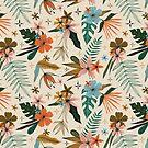 «estampado floral tropical de inspiración vintage» de Stacey Oldham
