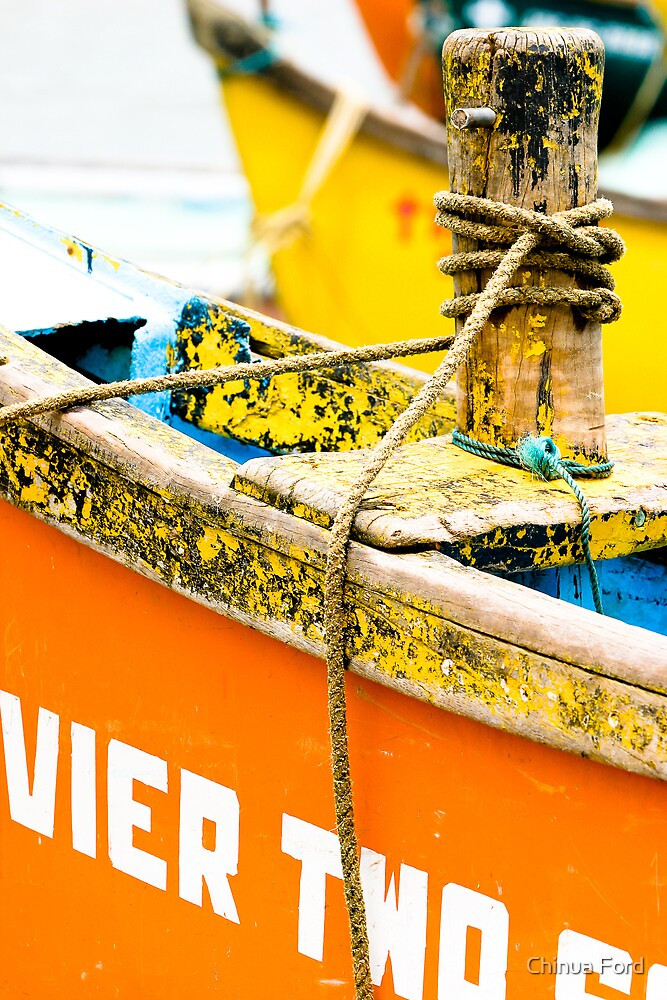 Yellow and Orange - River Boats by Chinua Ford