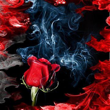 BURNING ROSE  by johnnyssandart