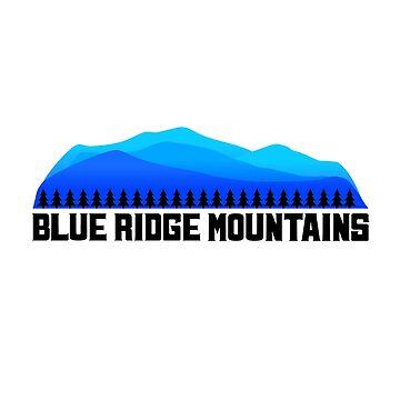 La camisa de las montañas Blue Ridge de ryewilcox