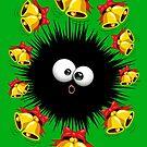 Fuzzy Funny Christmas Sea Urchin Character by BluedarkArt
