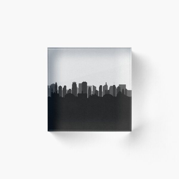 Travel Posters   Destination: Minneapolis Acrylic Block