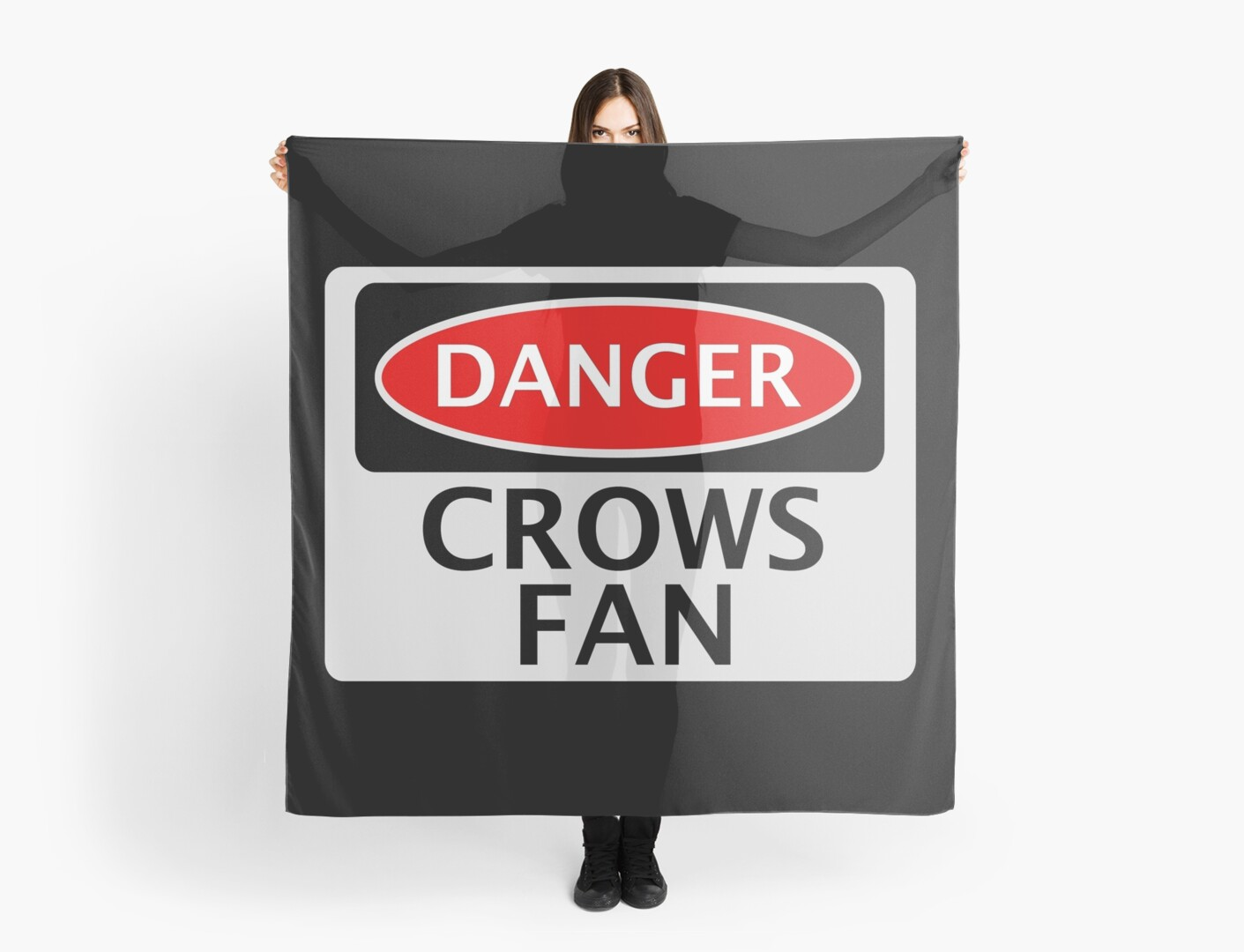 DANGER CROWS FAN FAKE FUNNY SAFETY SIGN SIGNAGE by DangerSigns