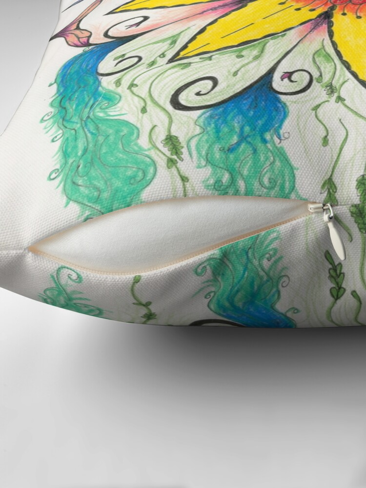 Alternate view of Symphony of Summer Throw Pillow