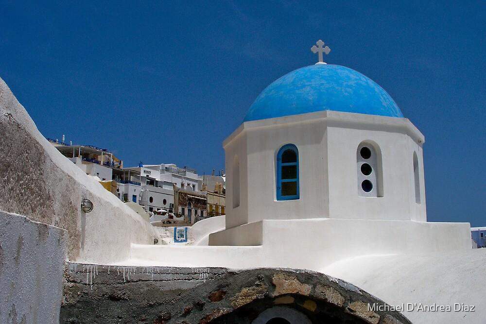 Santorini Church by Michael D'Andrea Diaz