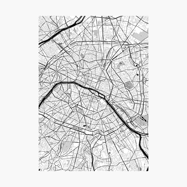 Paris OpenStreetMap Poster Photographic Print