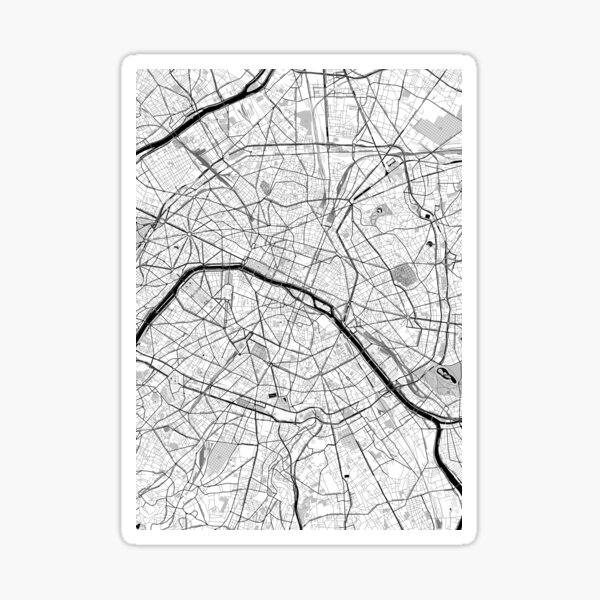 Paris OpenStreetMap Poster Sticker