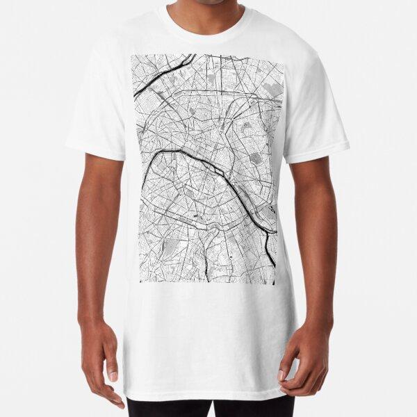 Paris OpenStreetMap Poster Long T-Shirt