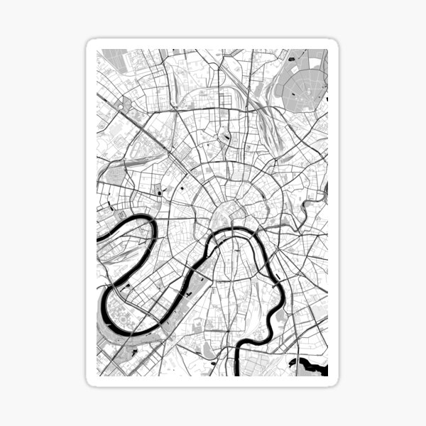 Moscow Toner Poster Sticker