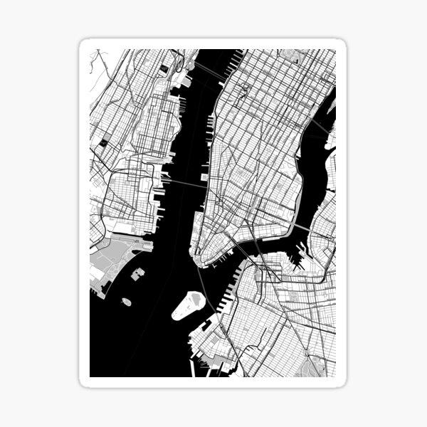 New York Toner Poster Sticker