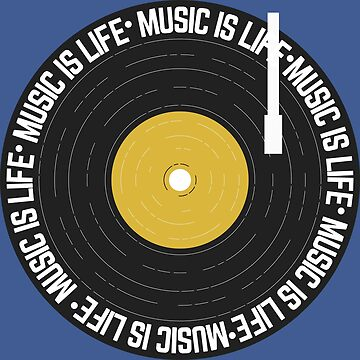 Music is Life Vinyl Record by Lightfield