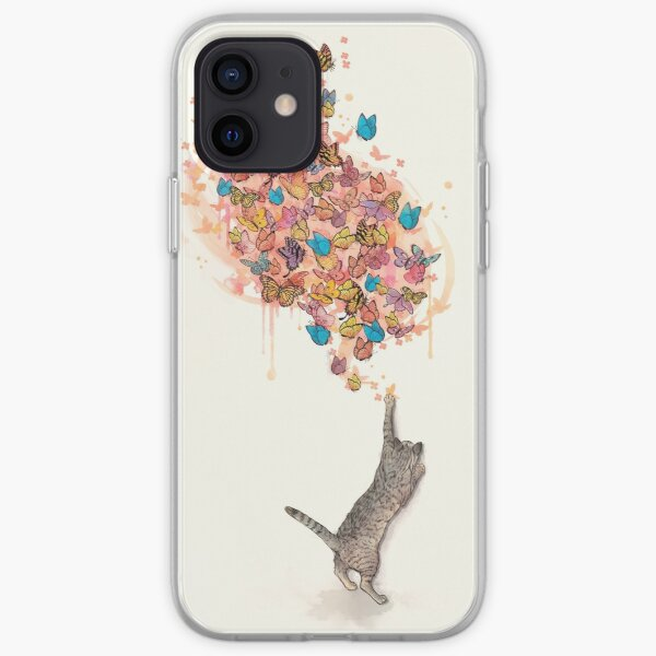 catching butterflies iPhone Soft Case