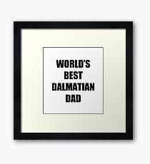 Dalmation Dad Dog Lover Funny Gift Idea Gerahmtes Wandbild